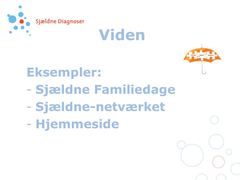 Viden Eksempler: -Sjældne Familiedage -Sjældne-netværket -Hjemmeside