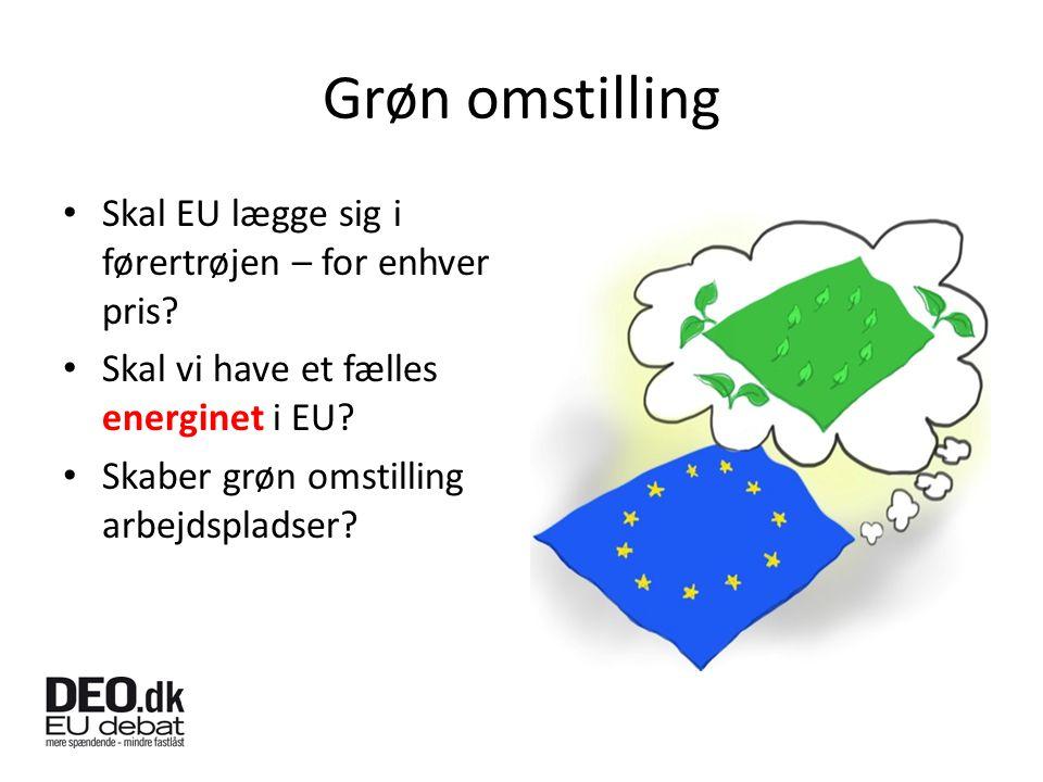 Grøn omstilling Skal EU lægge sig i førertrøjen – for enhver pris.