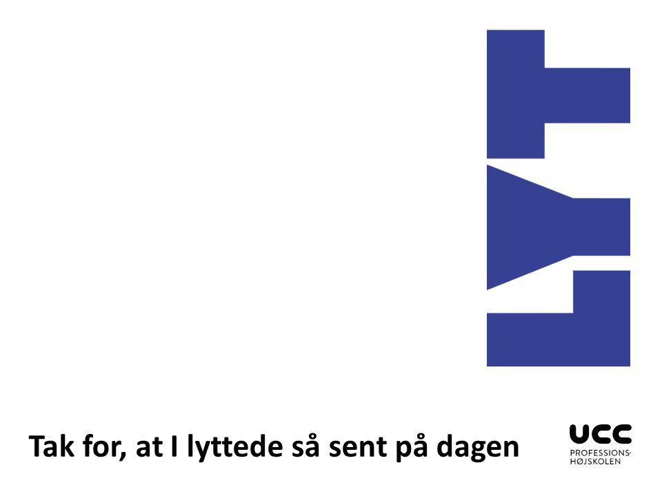 Indsæt billeder Klik på ikonet og indsæt et billede Billedbanken findes her: http://foto.ucc.dk/lightbox/298 1/12610530405281f60c93adc/ Vælg layout 1.