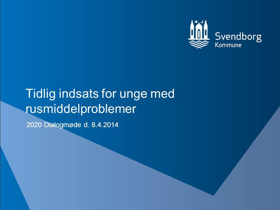 Tidlig indsats for unge med rusmiddelproblemer 2020 Dialogmøde d. 8.4.2014