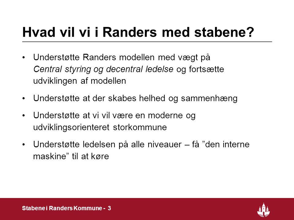 3 Stabene i Randers Kommune - 3 Hvad vil vi i Randers med stabene.