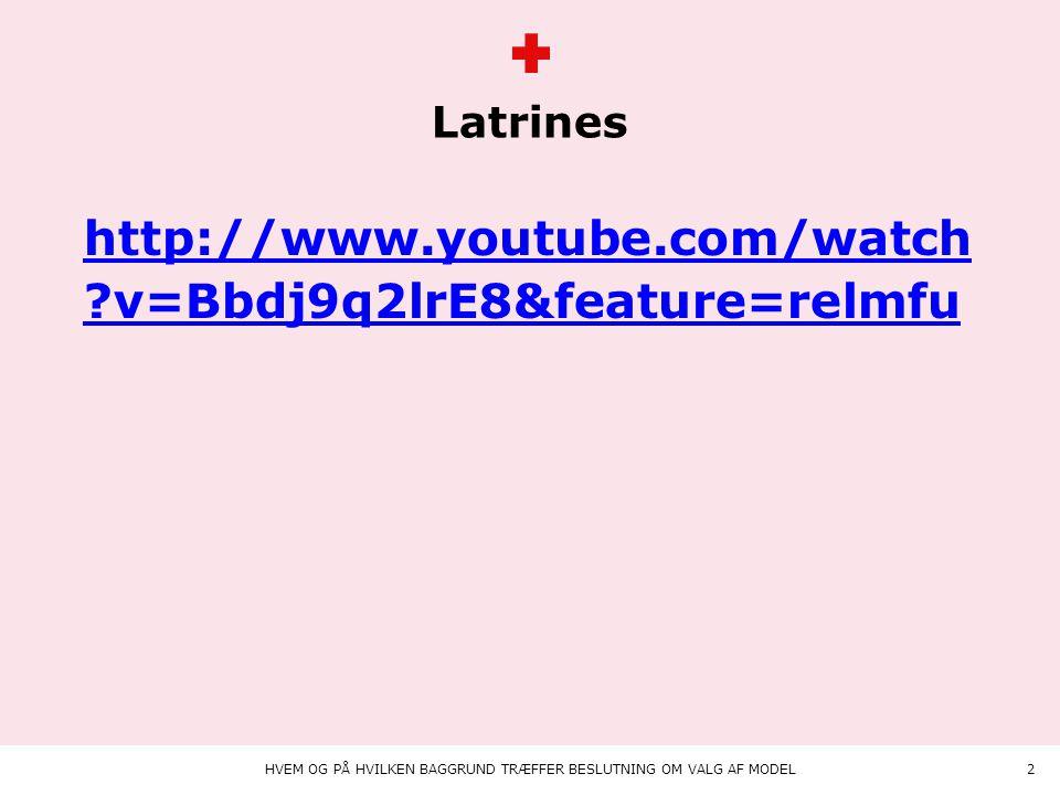 Animation på teksten Latrines HVEM OG PÅ HVILKEN BAGGRUND TRÆFFER BESLUTNING OM VALG AF MODEL2 http://www.youtube.com/watch v=Bbdj9q2lrE8&feature=relmfu