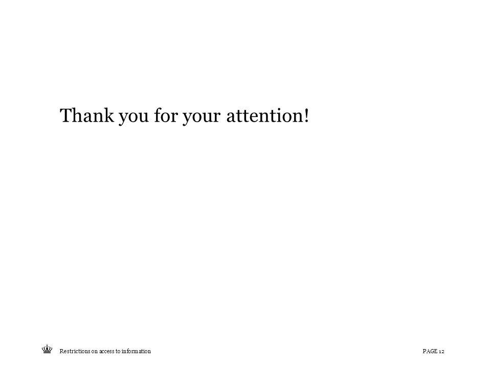 Tekst starter uden punktopstilling For at få punktopstilling på teksten (flere niveauer findes), brug >Forøg listeniveau- knappen i Topmenuen For at få venstrestillet tekst uden punktopstilling, brug >Formindsk listeniveau- knappen i Topmenuen Thank you for your attention.
