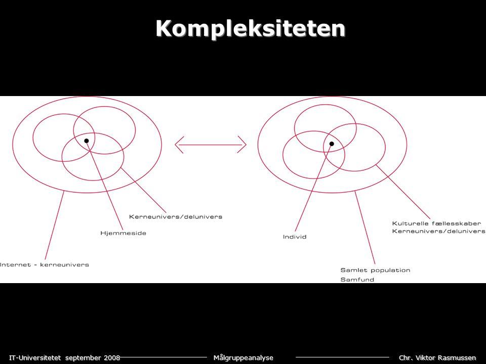 Chr. Viktor Rasmussen IT-Universitetet september 2008 Målgruppeanalyse Kompleksiteten