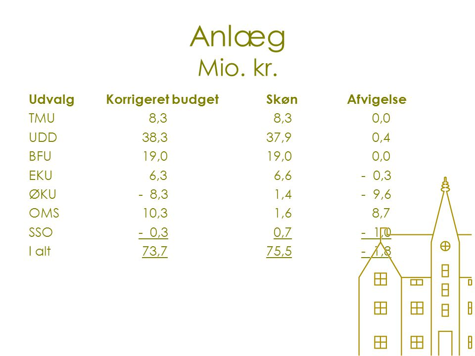 Anlæg Mio. kr.