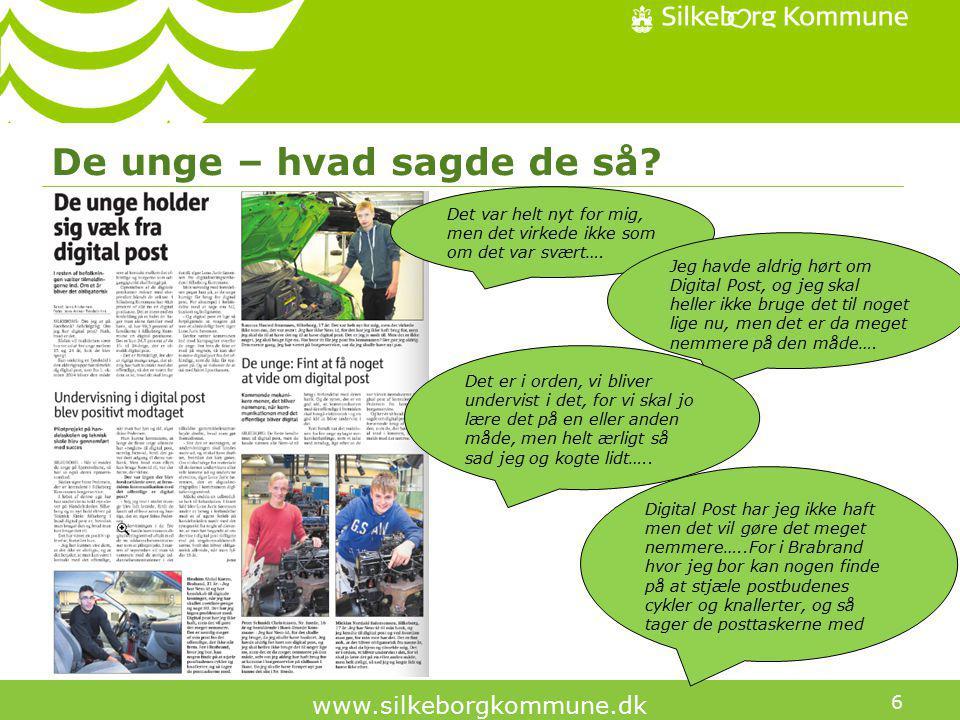 6 www.silkeborgkommune.dk De unge – hvad sagde de så.