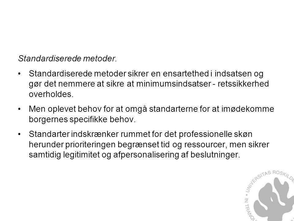 Standardiserede metoder.