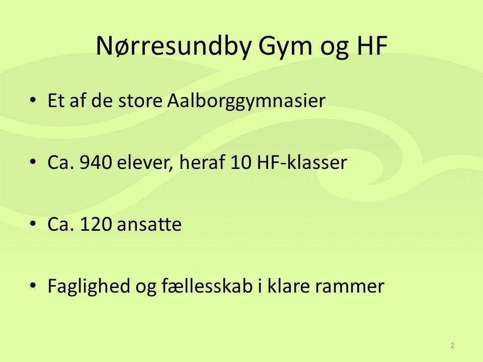 Nørresundby Gym og HF Et af de store Aalborggymnasier Ca.