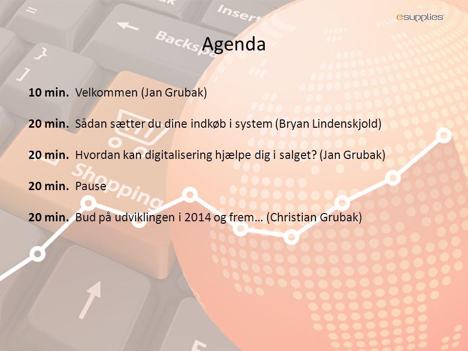 Agenda 10 min. Velkommen (Jan Grubak) 20 min.