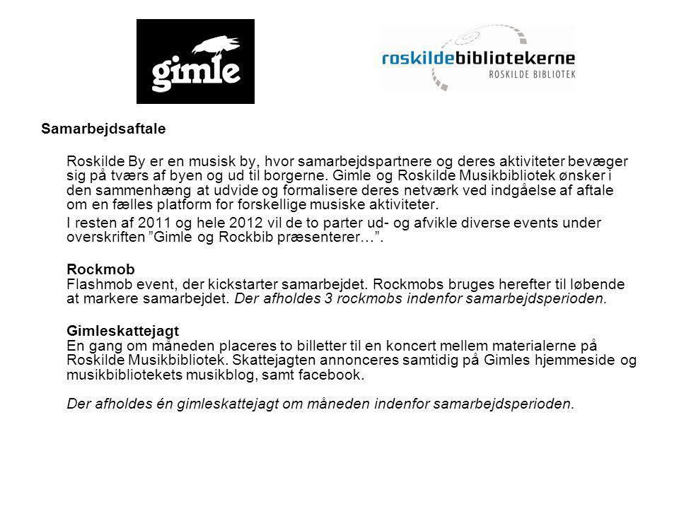 Samarbejdsaftale Roskilde By er en musisk by, hvor samarbejdspartnere og deres aktiviteter bevæger sig på tværs af byen og ud til borgerne.