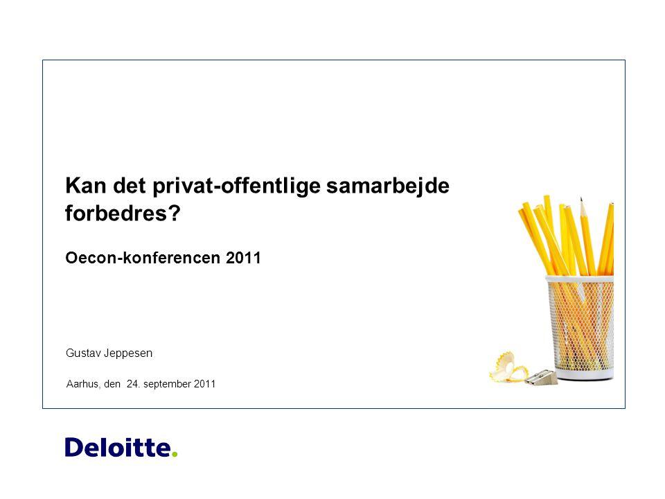 Gustav Jeppesen Kan det privat-offentlige samarbejde forbedres.