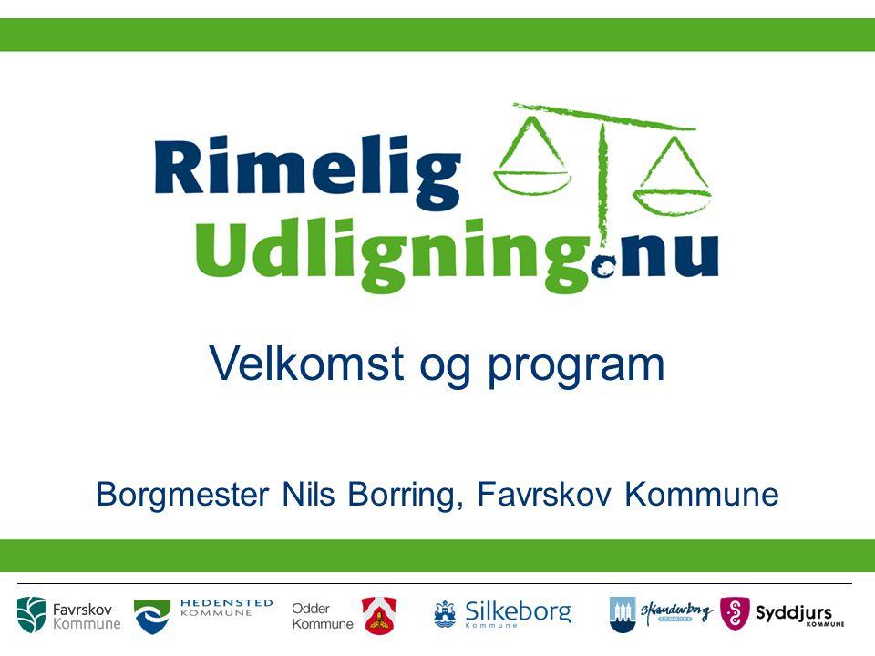 Velkomst og program Borgmester Nils Borring, Favrskov Kommune