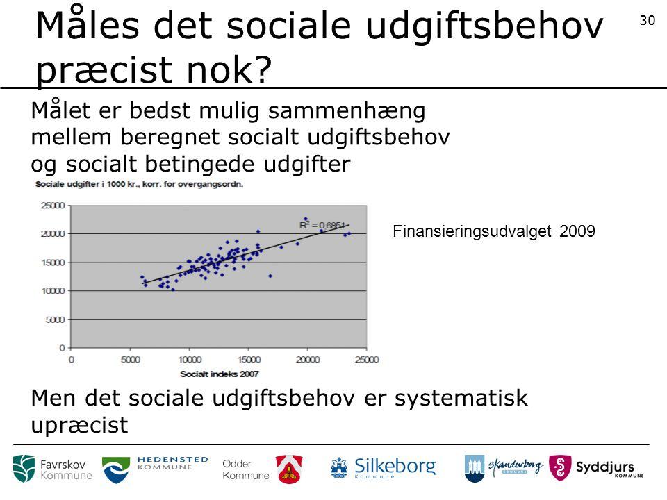 Måles det sociale udgiftsbehov præcist nok.