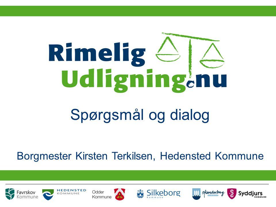 Spørgsmål og dialog Borgmester Kirsten Terkilsen, Hedensted Kommune