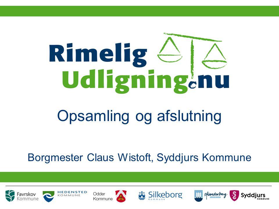 Opsamling og afslutning Borgmester Claus Wistoft, Syddjurs Kommune