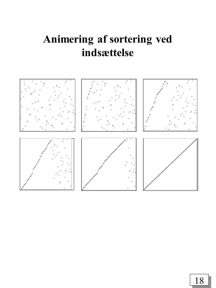 18 Animering af sortering ved indsættelse