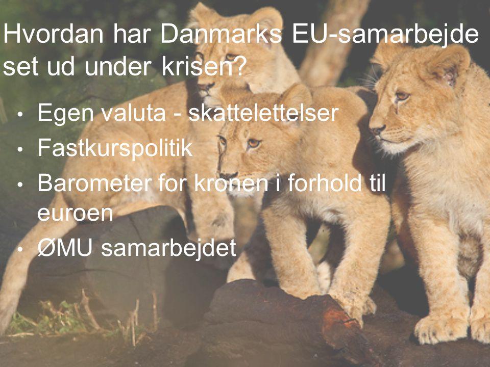 Hvordan har Danmarks EU-samarbejde set ud under krisen.