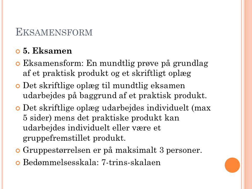 E KSAMENSFORM 5.