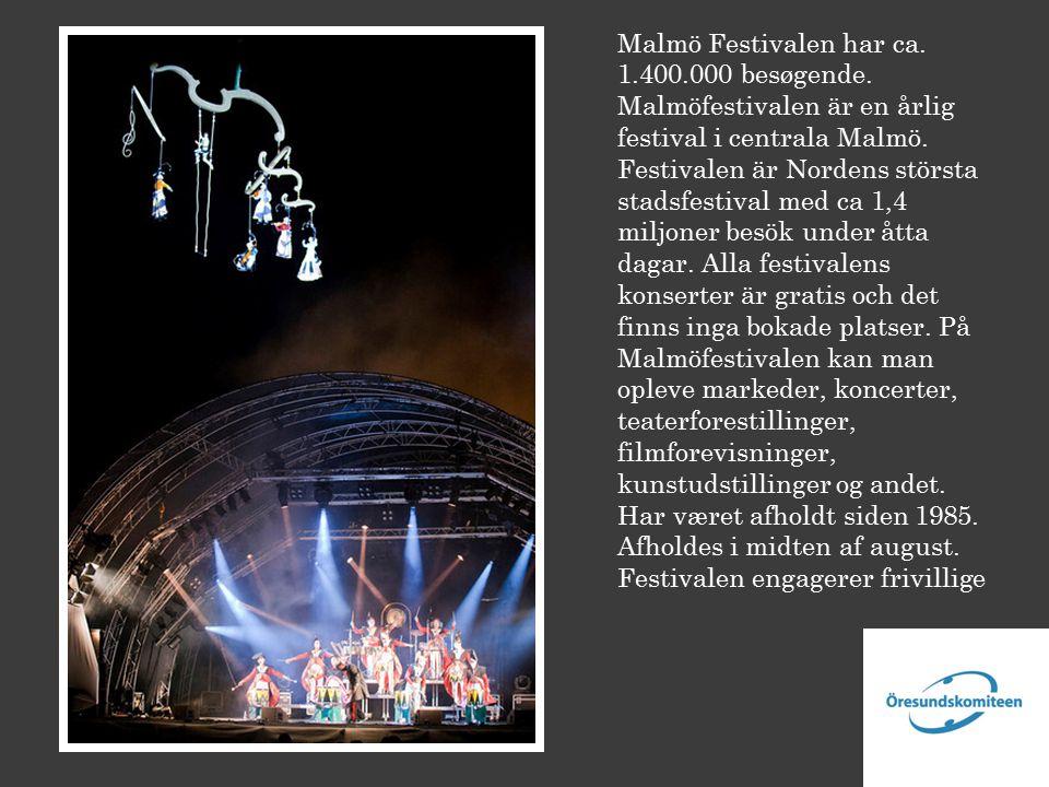 Malmö Festivalen har ca. 1.400.000 besøgende.