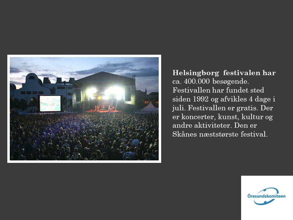 Helsingborg festivalen har ca. 400.000 besøgende.