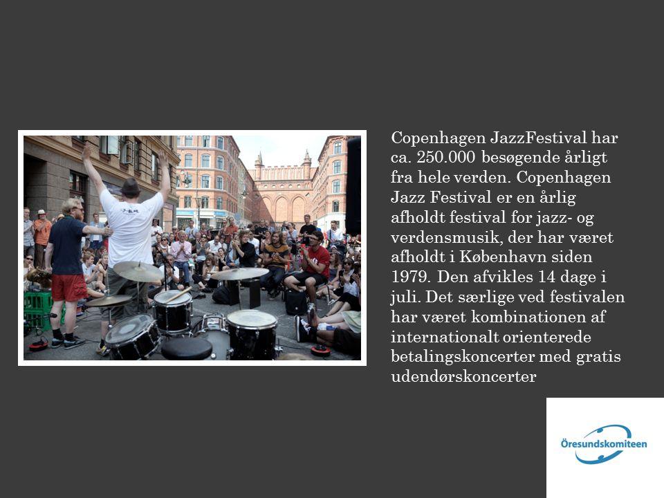 Copenhagen JazzFestival har ca. 250.000 besøgende årligt fra hele verden.