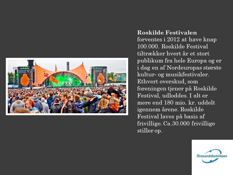 Roskilde Festivalen forventes i 2012 at have knap 100.000.