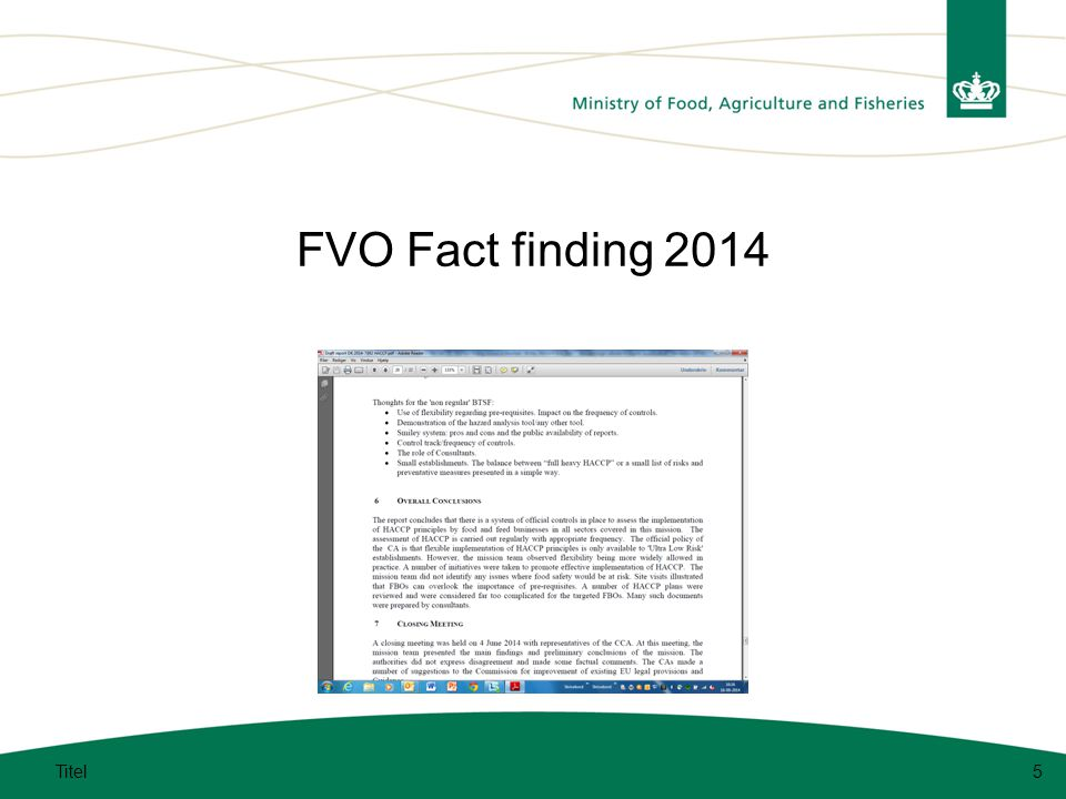 FVO Fact finding 2014 Titel5