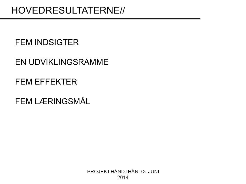 PROJEKT HÅND I HÅND 3.