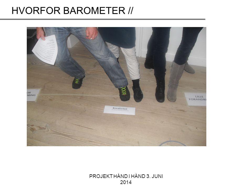 PROJEKT HÅND I HÅND 3. JUNI 2014 HVORFOR BAROMETER //