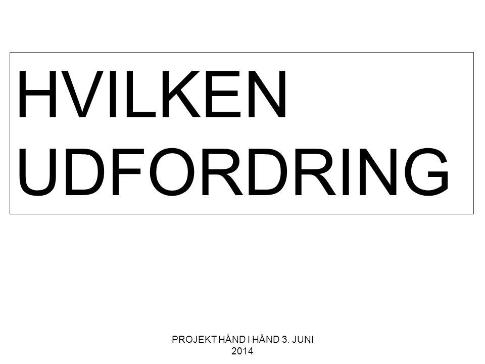HVILKEN UDFORDRING PROJEKT HÅND I HÅND 3. JUNI 2014