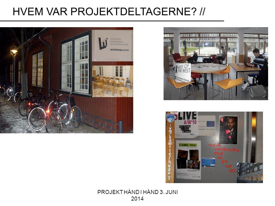 PROJEKT HÅND I HÅND 3. JUNI 2014 HVEM VAR PROJEKTDELTAGERNE //
