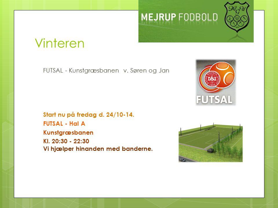 Vinteren FUTSAL - Kunstgræsbanen v. Søren og Jan Start nu på fredag d.