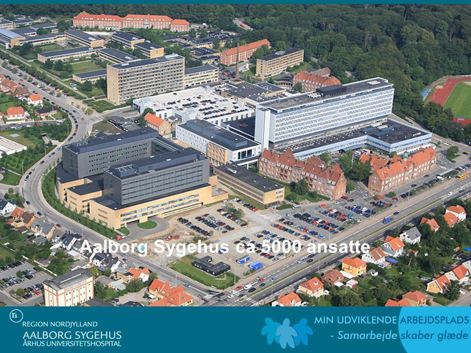 Aalborg Sygehus ca 5000 ansatte