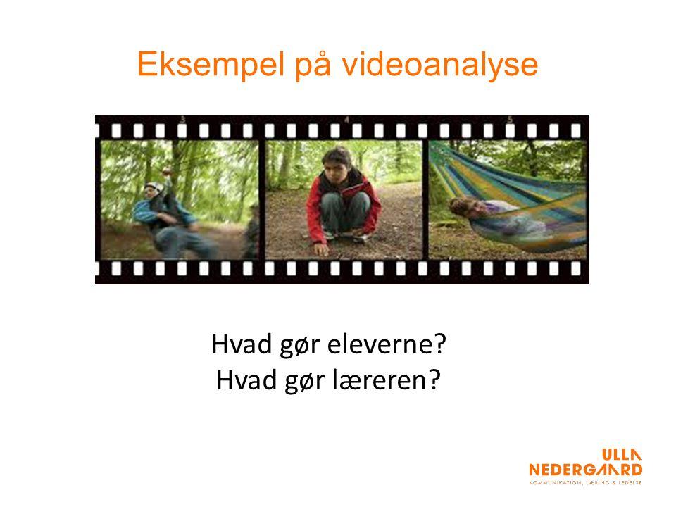 Eksempel på videoanalyse Hvad gør eleverne Hvad gør læreren