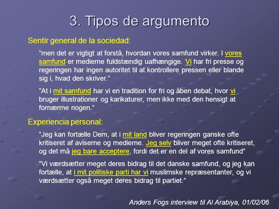 3. Tipos de argumento men det er vigtigt at forstå, hvordan vores samfund virker.
