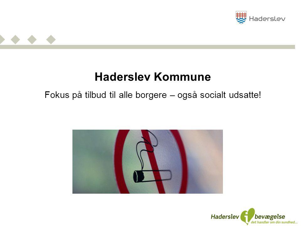 Haderslev Kommune Fokus på tilbud til alle borgere – også socialt udsatte!