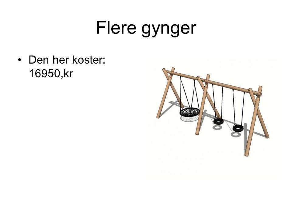 Flere gynger Den her koster: 16950,kr