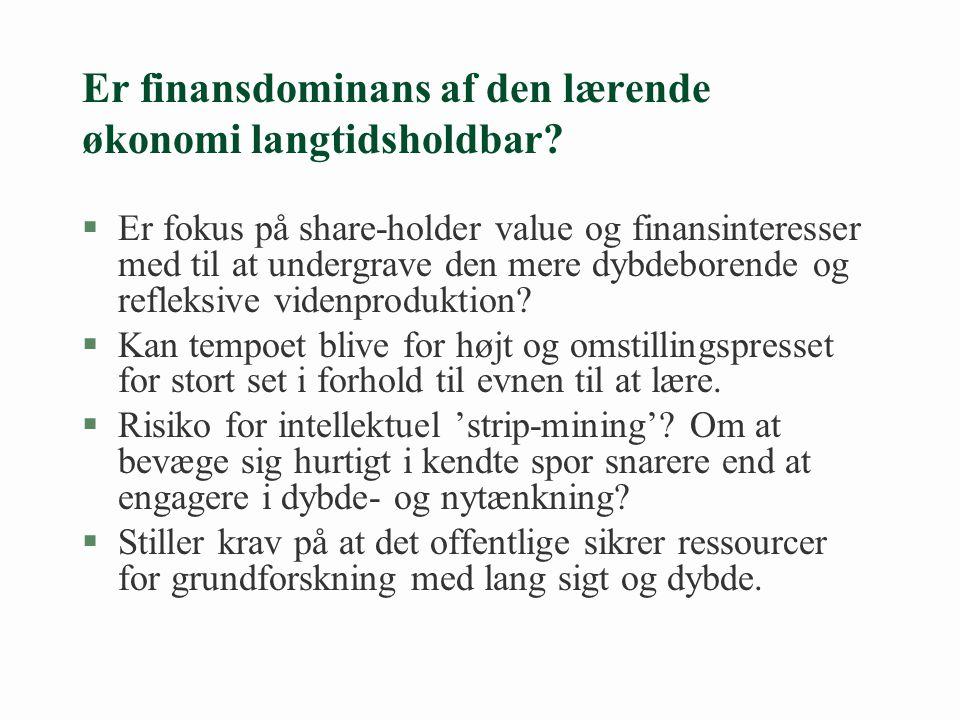 Er finansdominans af den lærende økonomi langtidsholdbar.