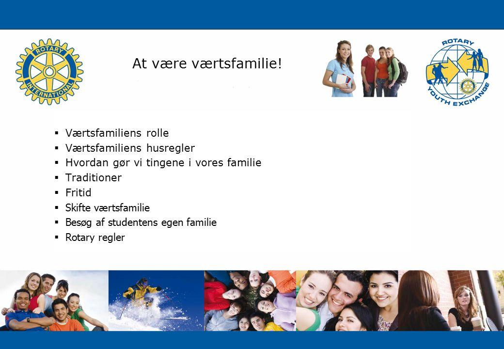 At være værtsfamilie.