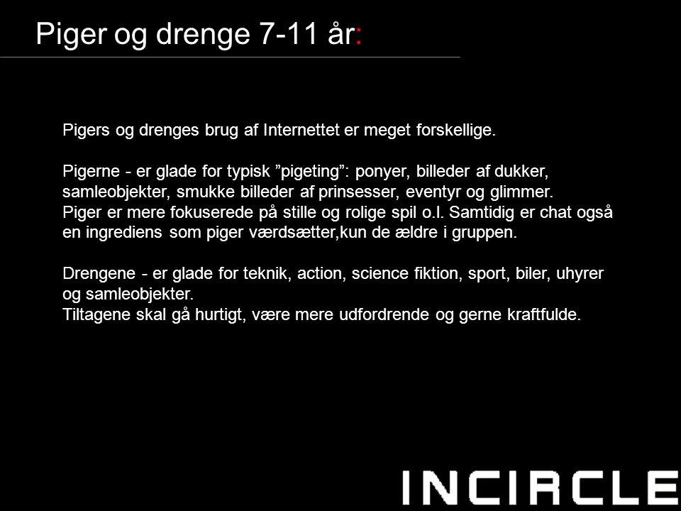 11 Piger og drenge 7-11 år: Pigers og drenges brug af Internettet er meget forskellige.