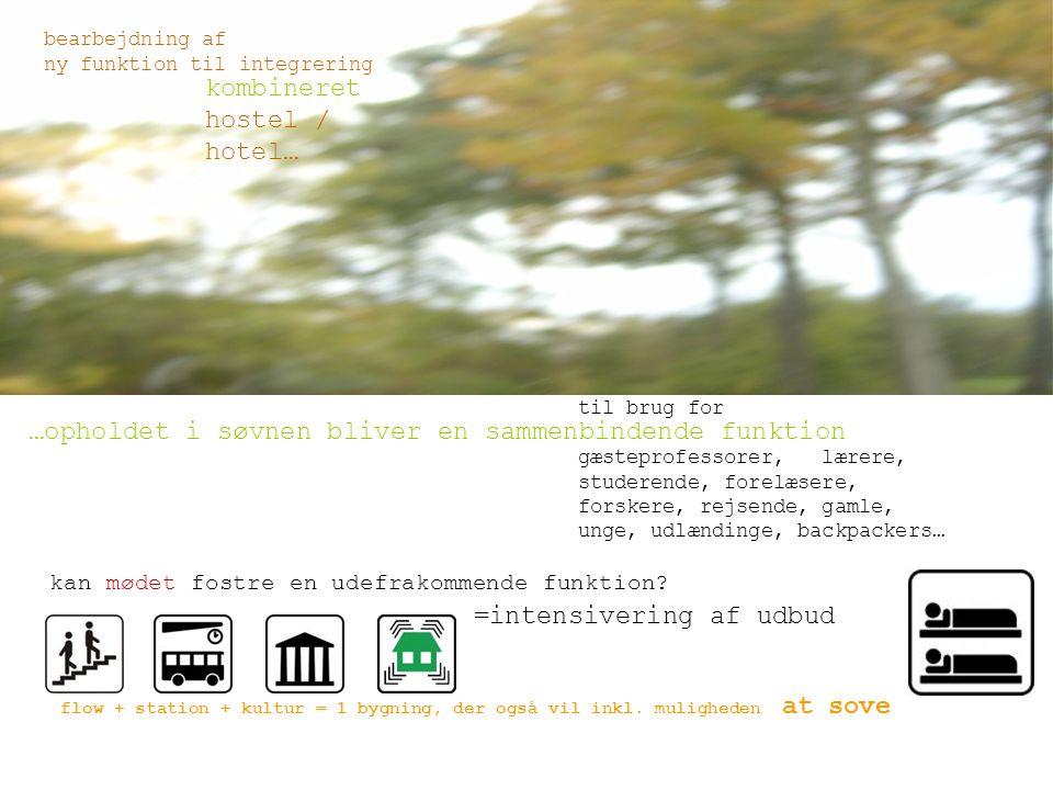 bearbejdning af ny funktion til integrering flow + station + kultur = 1 bygning, der også vil inkl.