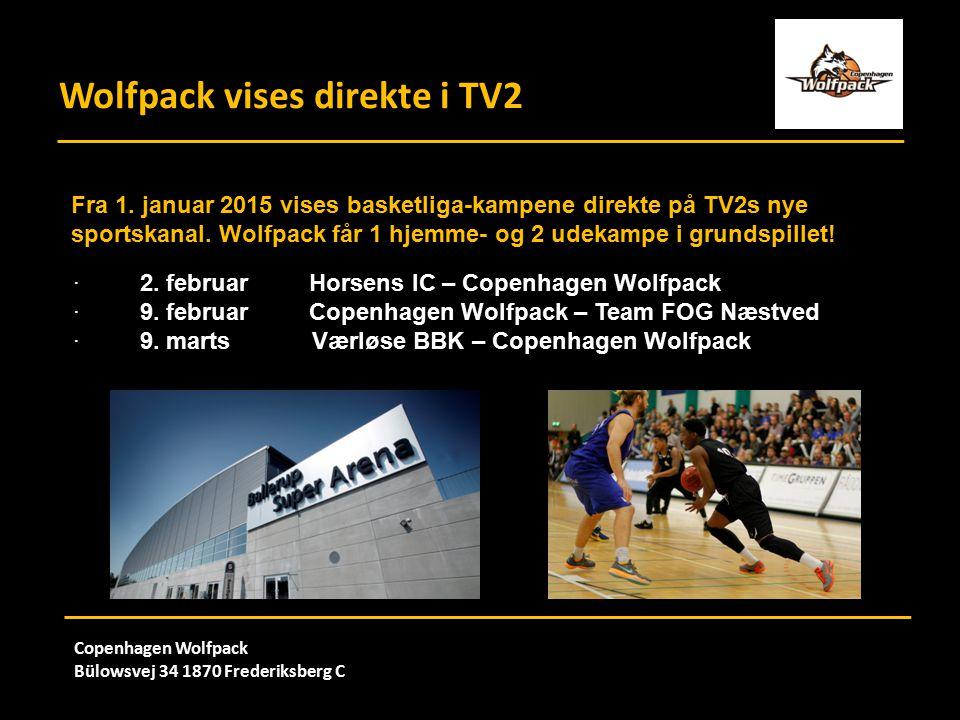 Wolfpack vises direkte i TV2 Copenhagen Wolfpack Bülowsvej 34 1870 Frederiksberg C Fra 1.