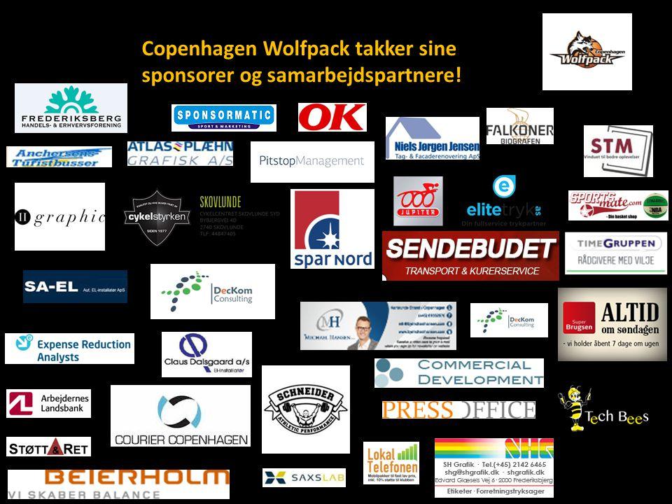 Copenhagen Wolfpack takker sine sponsorer og samarbejdspartnere!