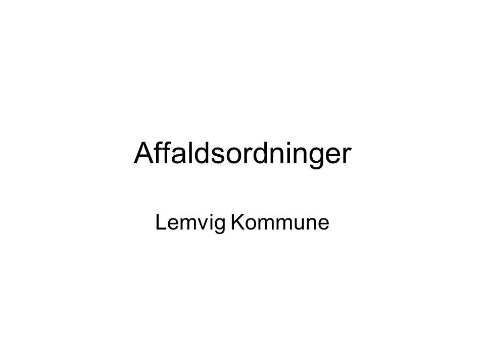 Affaldsordninger Lemvig Kommune