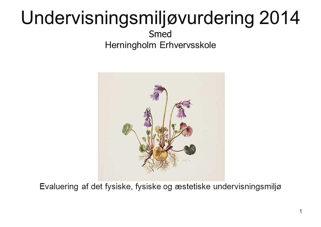 Undervisningsmiljøvurdering 2014 Smed Herningholm Erhvervsskole Evaluering af det fysiske, fysiske og æstetiske undervisningsmiljø 1
