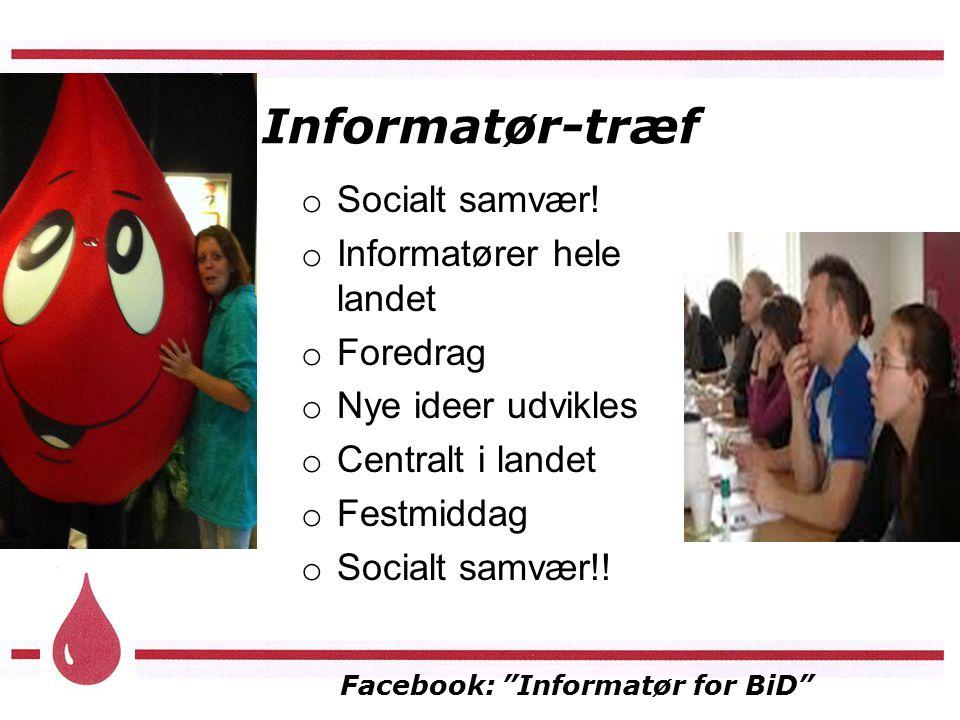Facebook: Informatør for BiD Informatør-træf o Socialt samvær.