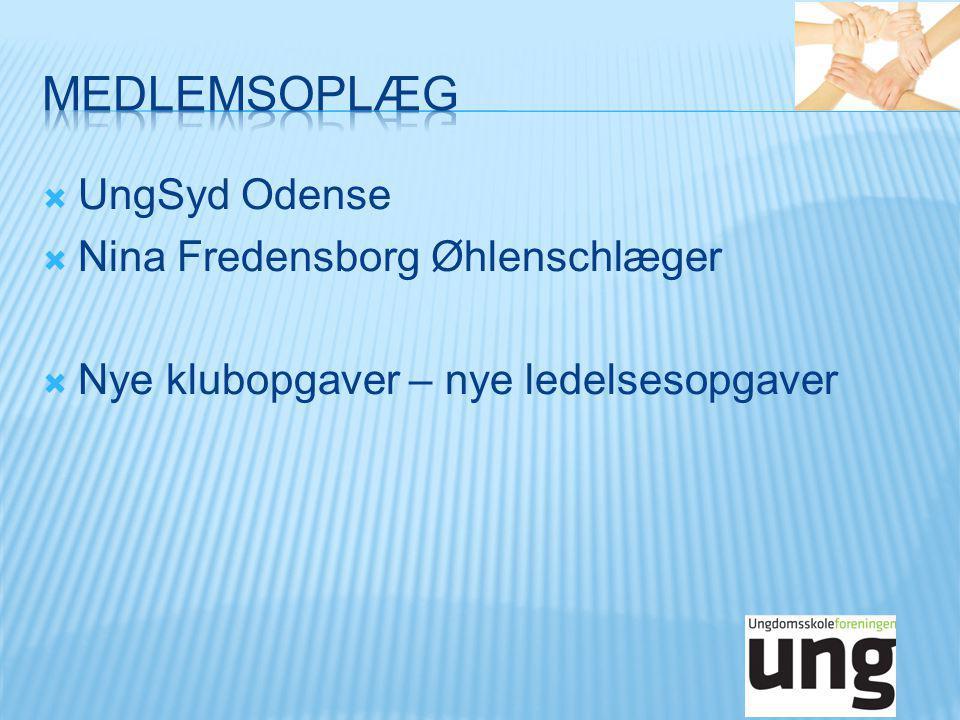  UngSyd Odense  Nina Fredensborg Øhlenschlæger  Nye klubopgaver – nye ledelsesopgaver