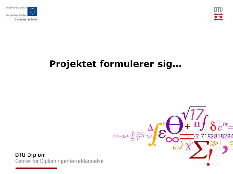 Projektet formulerer sig…