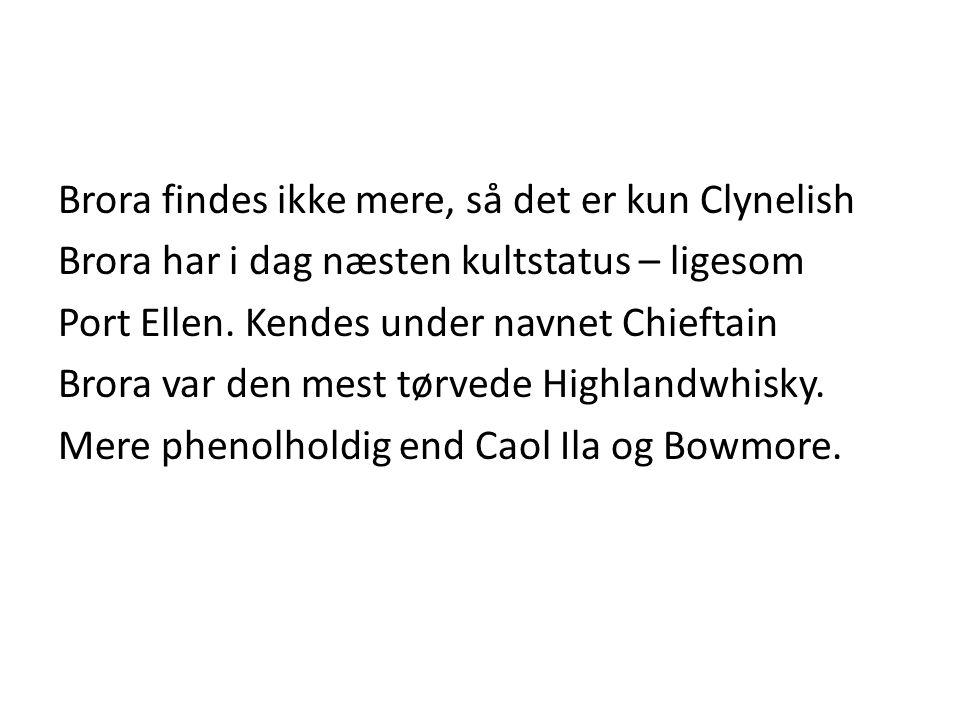 Brora findes ikke mere, så det er kun Clynelish Brora har i dag næsten kultstatus – ligesom Port Ellen.