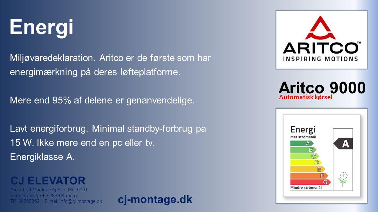 Energi Miljøvaredeklaration. Aritco er de første som har energimærkning på deres løfteplatforme.